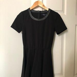 Madewell Short Sleeve Black Scuba Dress